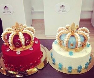 cake, Queen, and crown image