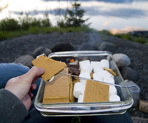 idaho, lake pend oreille, and smores image