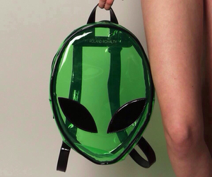 alien, grunge, and green image