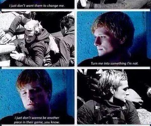 peeta, mockingjay, and the hunger games image