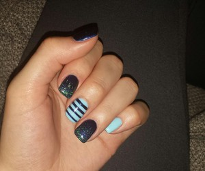 blue, nails, and small image