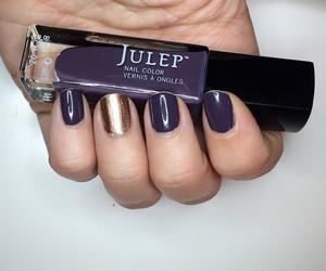 gold, nail polish, and hand image