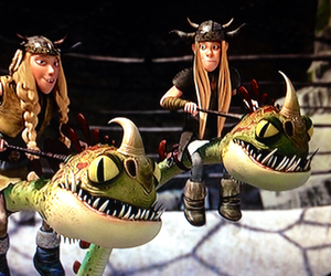 barf, httyd, and ruffnut image