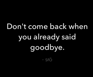 quote, goodbye, and text image
