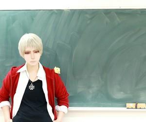 anime, classroom, and cosplay image