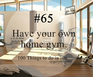 gym, 65, and 100 things to do in life image