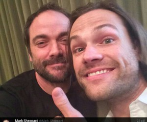 crowley, jared padalecki, and moose image