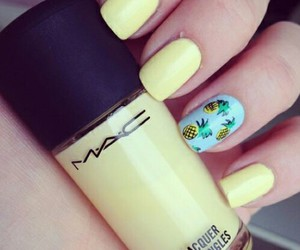 nails, mac, and pineapple image