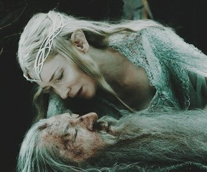 gandalf, galadriel, and the hobbit image