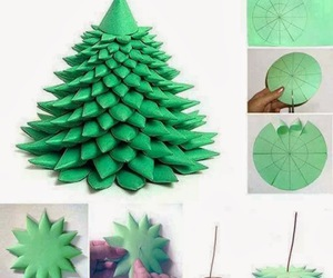 tutorial, christmastree, and papercraft image