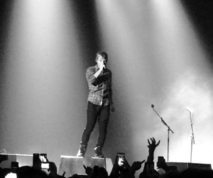 black and white, concert, and music image