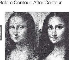 contour, funny, and makeup image