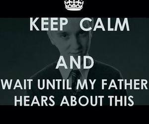 harry potter, keep calm, and draco malfoy image