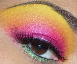 colourful, eye, and lashes image