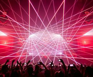 festival, lasers, and music image