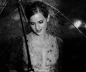 emma watson, umbrella, and harry potter image