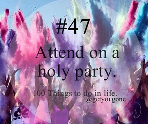 47, 100 things to do in life, and party image