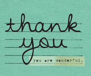 blue, note, and thank you image