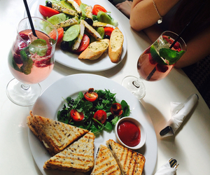 drink, food, and lunch image