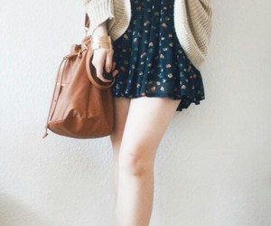 bag, braid, and clothes image