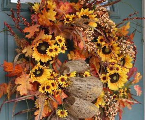 autumn, wreath, and floral image