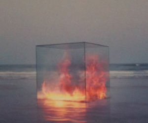 fire, art, and sea image