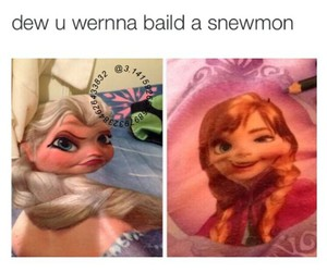 frozen, funny, and funny pics image