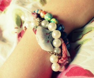beads, bracelets, and floral image
