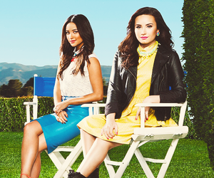 demi lovato, shay mitchell, and pretty little liars image