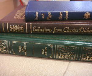 charles dickens, jane austen, and vintage books image