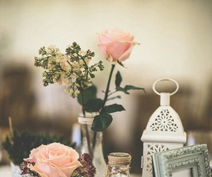 rose, vintage, and flowers image