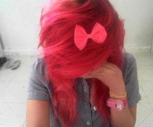 alternative, pink hair, and red image
