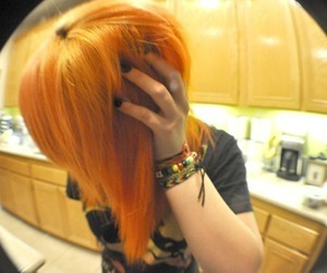 girl, hair, and orange hair image