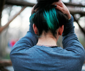 hair, girl, and blue hair image