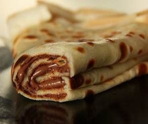 chocolate, crepe, and food image