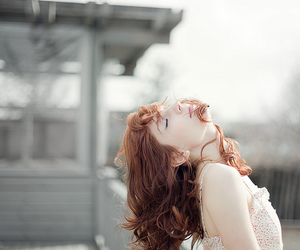 girl, pretty, and white image
