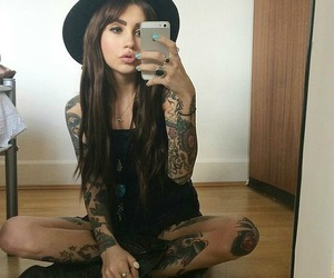 tattoo, sexy, and hat image