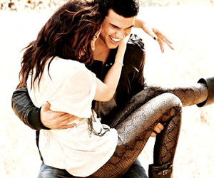 Taylor Lautner, kristen stewart, and twilight image