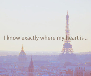 paris, heart, and quote image