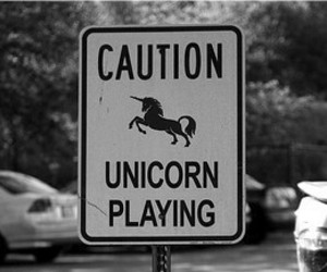 caution, playing, and unicórnio image