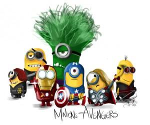 minions, Avengers, and Hulk image