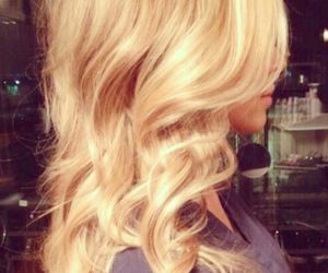 blonde and curly image