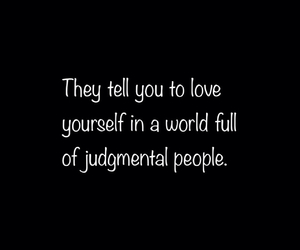 be yourself, people, and world image