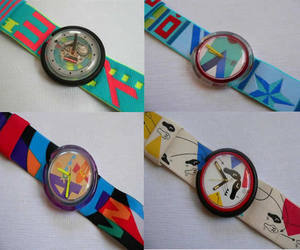 pop swatch, 90's, and watches image