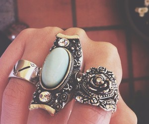 grunge and rings image