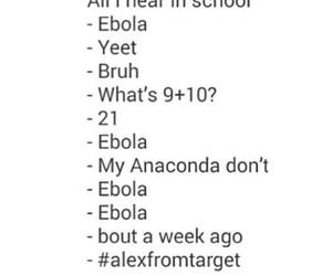 school, ebola, and funny image