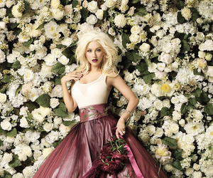 christina aguilera, xtina, and flowers image