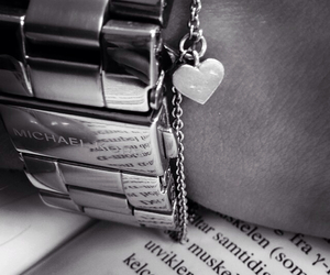 accessories, black and white, and books image