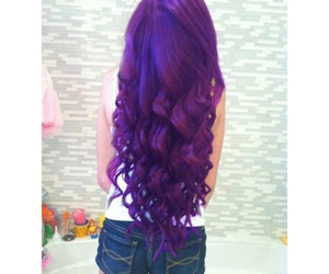 hair, purple, and curly image