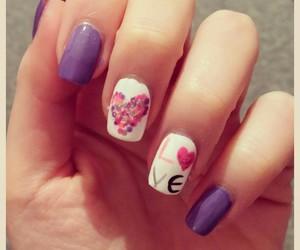 fall, heart, and nails image